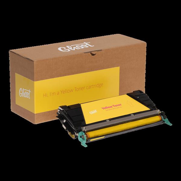 Yellow Toner C746Y mit Verpackung