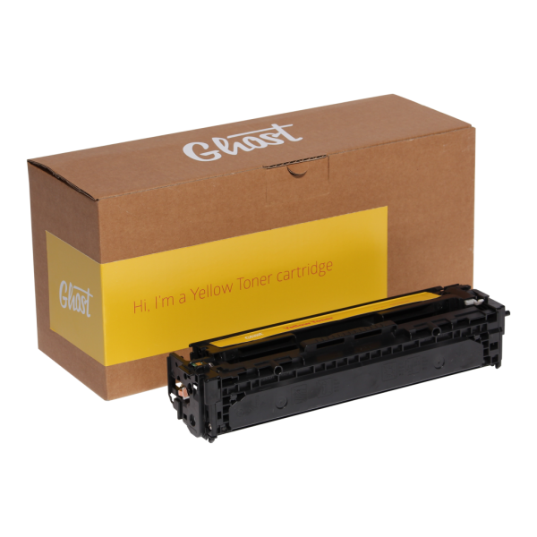 Little Ghost Yellow Toner Yellow Toner HP, Canon 1215Y mit Verpackung