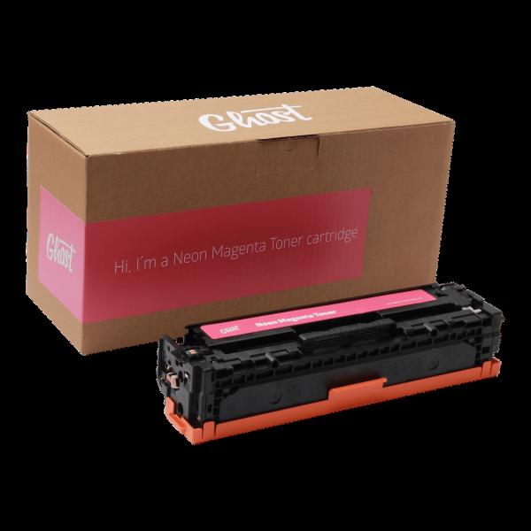 CF212 Little Ghost Neon Magenta Toner mit Verpackung