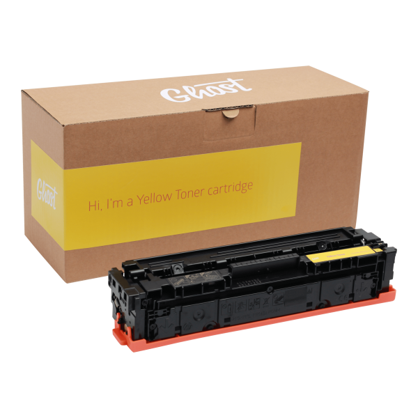 CF402A Little Ghost 2 Yellow, Yellow Toner M254 mit Verpackung