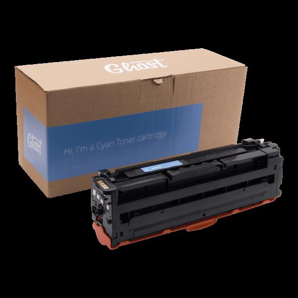 Cyan Toner Samsung CLP-680 mit Verpackung