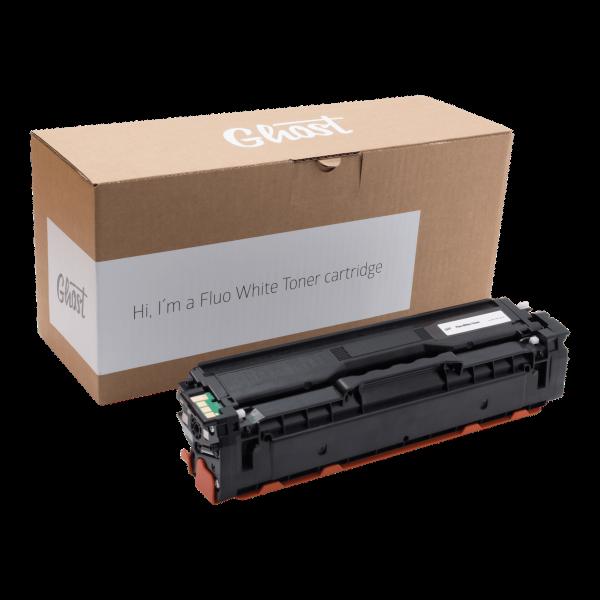 Fluo White Toner Samsung CLP-415 mit Verpackung