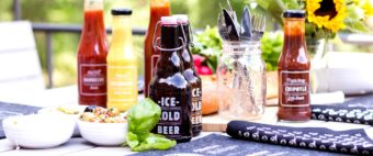 Flasche-mit-Multirtrans-Grillparty