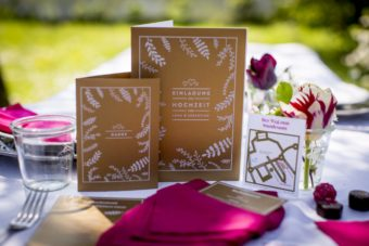 table set decoration and wedding card menu design printed with ghost white toner