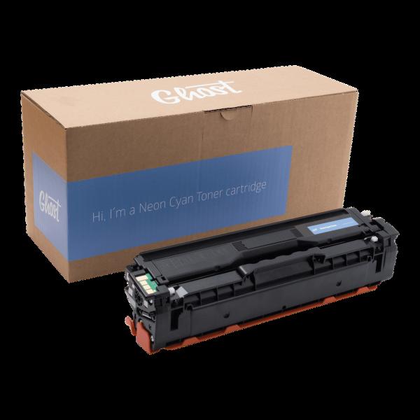 Neon Cyan Toner Samsung CLP-415 mit Verpackung