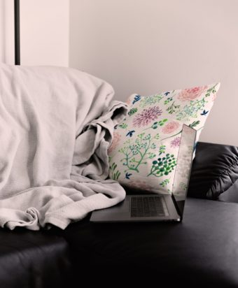 Sublimation Printing with Ghost Sublime Toner on white Pillow with flower pattern