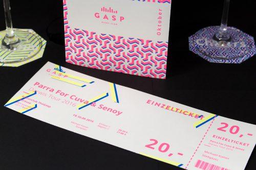 Eintrittskarte im unverwechselbaren Neon Design