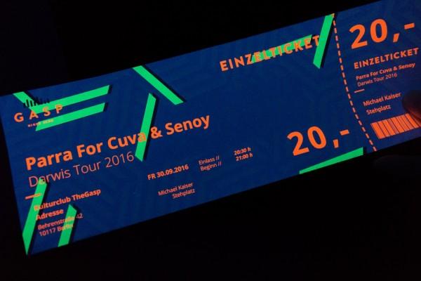 Ghost Neon Ticket, Eintrittskarte