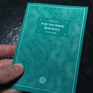Ghost Karten, Druck in weiß