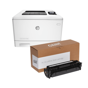 Ghost Bundle M452nw with White Toner