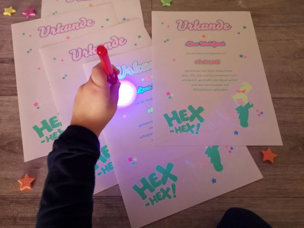 Neon print children birthday party