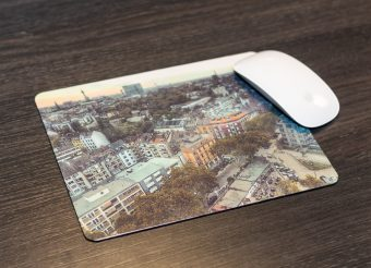 Mousepad cityskyline printed with sublimation toner