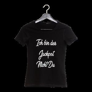 Schwarzes Shirt mit White-Print
