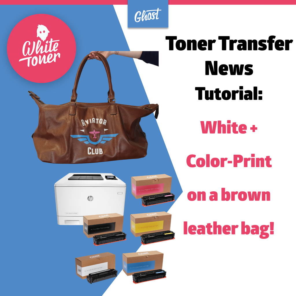 Toner Transfer News – Print on a brown leather bag