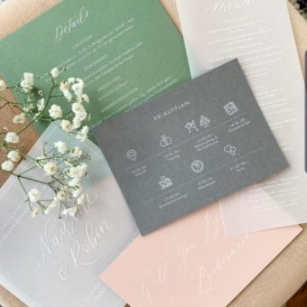 wedding card invitation design printed with ghost white toner
