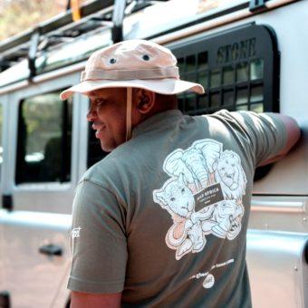tshirt safari and africa design with white toner print