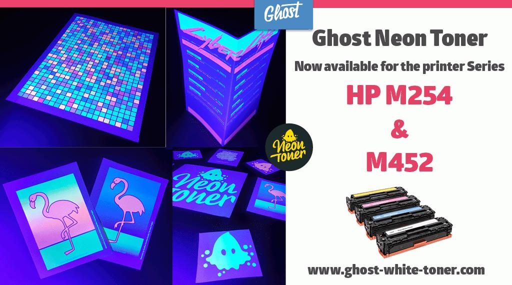 Tóner Fantasma de Neón ahora disponible para los HP Color Laserjet M254 y M452!