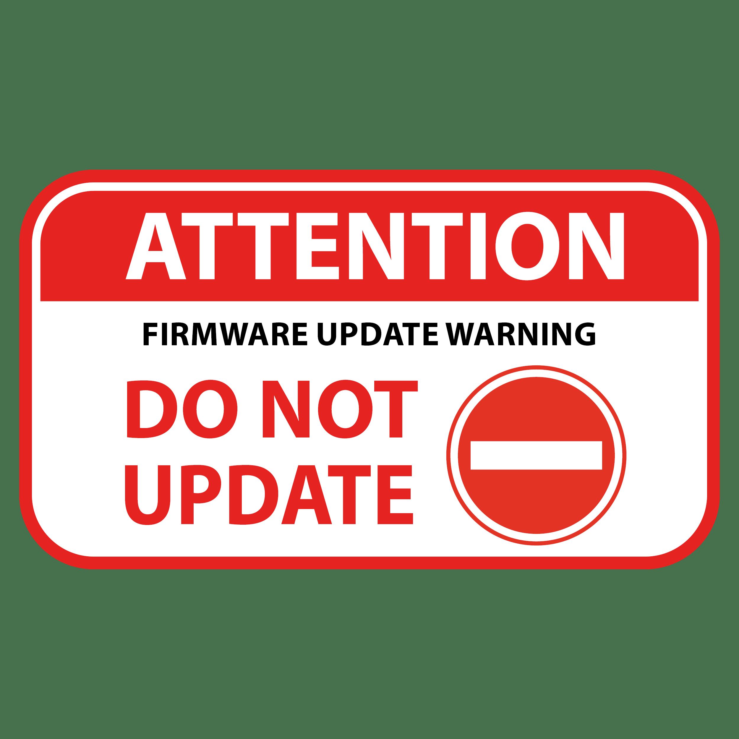 Advertencia de actualización del firmware